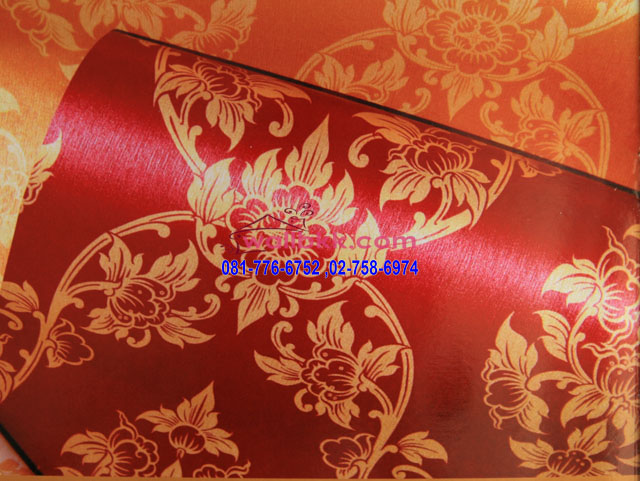 MLT12-43-ลายดอกพุดตานสีแดงลายทอง-wallpaper-LineThai