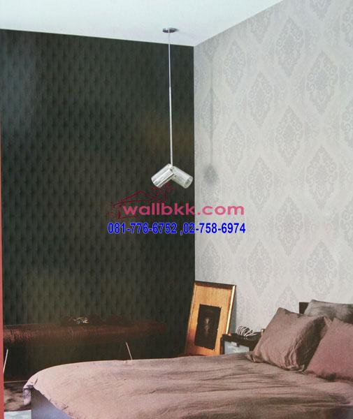FVE12-62 ตัวอย่างวอลเปเปอร์ ลายหลุยส์ในห้องนอน