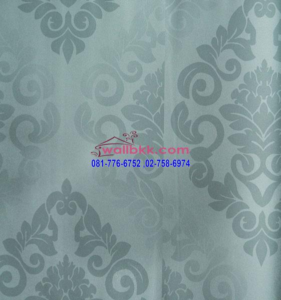 FVE12-67 wallpaper ติดผนัง ลายหลุยส์พื้นสีเทา