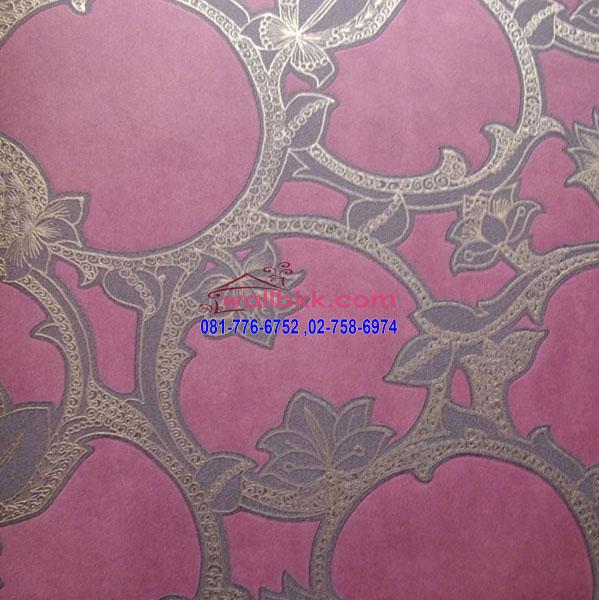 MDD45-011-wallpaper-ติดผนังสไตล์-retroลายวงกลมพื้นสีม่วง