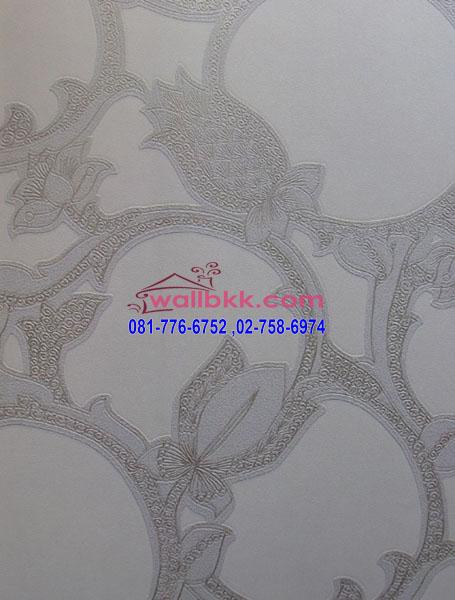 MDD45-012-wallpaper-ติดผนังสไตล์-retroลายวงกลมพื้นสีเทา
