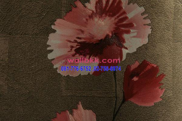 MSH45-008 วอลเปเปอร์ติดผนัง นำเข้าจากเกาหลี ลายดอกไม้