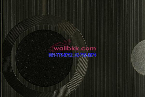 MSH45-014 วอลเปเปอร์เกาหลี ลายวงกลม สีดำ