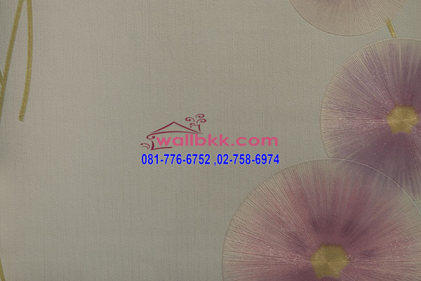 MSH45-018 วอลเปเปอร์เกาหลีติดผนังห้อง ลายดอกไม้สีม่วง