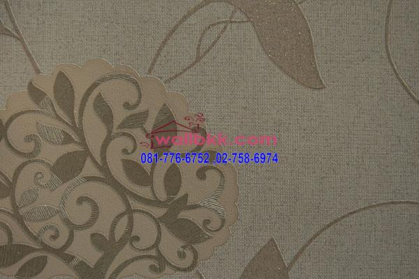 MSH45-020 วอลเปเปอร์เกาหลีติดผนังห้อง ลายหรูๆสีครีม