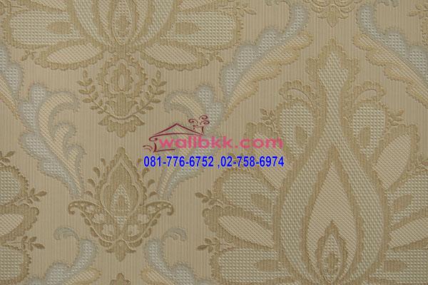 MSH45-022 วอลเปเปอร์เกาหลีติดผนังห้อง ลายหลุยส์สีครีม
