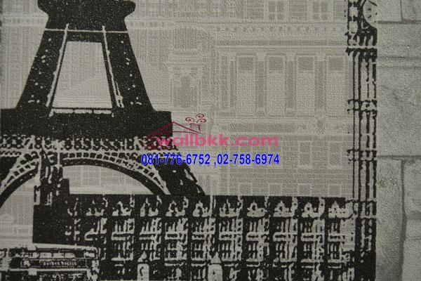 MSH45-028 วอลเปเปอร์ติดผนัง ลายตึก ลายหอไอเฟล ปารีส