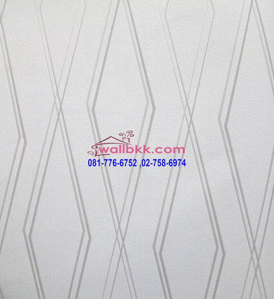 MSL12-027 wallpaper ลายกราฟฟิกรูปสี่เหลี่ยมคางหมูสีเทา