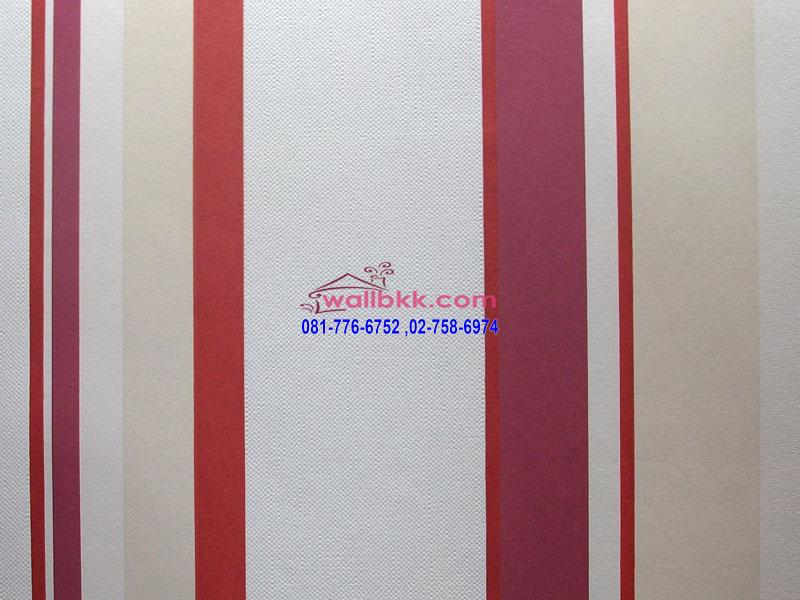 MSL12-035 wallpaper ลายกราฟฟิกรูปลายทางสีแดงครีม